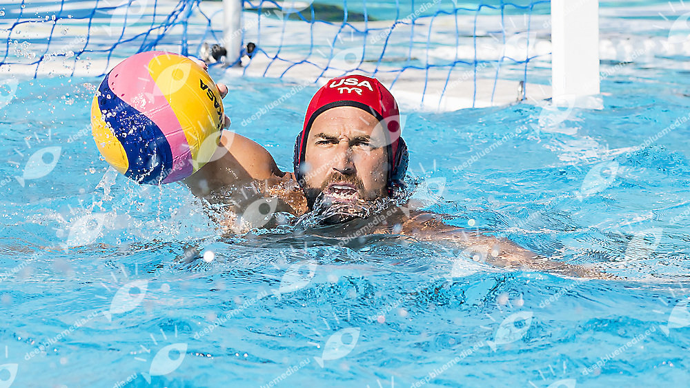 1 MERRILL Moses USA<br /> Hungary HUN (white) - United States USA (blue)<br /> day 04 - 26/06/2015<br /> FINA Water Polo World League Superfinal Men<br /> Bergamo (ITA) 23-28 June 2015<br /> Photo G.Scala/Deepbluemedia