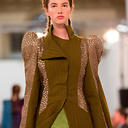 11.05. 2017.                                                 <br /> A model wears designs by Jack Roche, titled Saligia at Limerick School of Art & Design, LIT, the LSAD 360°Fashion Show, sponsored by AIB. Picture: Alan Place