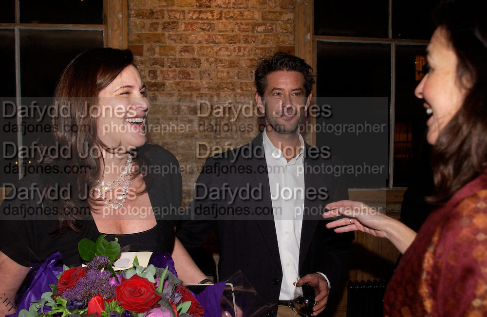 Janine di giovanni and her husband Bruno Girodon, , Madness Visible by Janine di Giovanni, book launch, Front Line club. 14 January 2004.<br /> <br />  , -DO NOT ARCHIVE-© Copyright Photograph by Dafydd Jones. 248 Clapham Rd. London SW9 0PZ. Tel 0207 820 0771. www.dafjones.com.