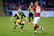 Morecambe Defender Andy Parrish during the Sky Bet League 2 match between Northampton Town and Morecambe at Sixfields Stadium, Northampton, England on 23 January 2016. Photo by Dennis Goodwin.