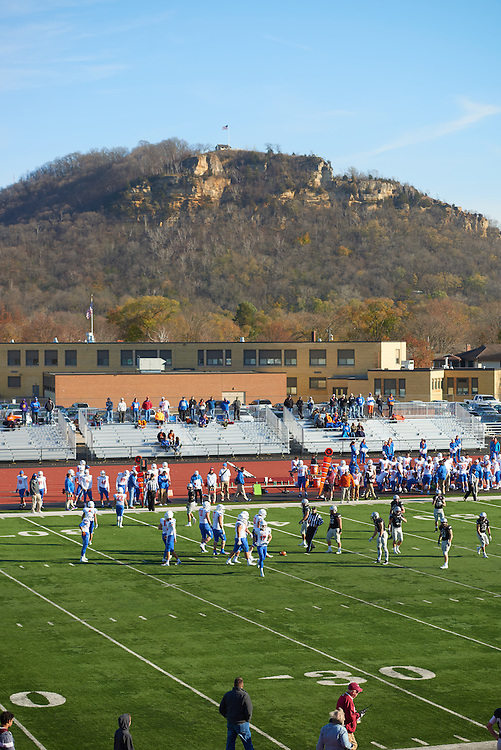 Buildings; Roger Harring Stadium; Fall; November; Location; Outside; People; Student Students; Time/Weather; day; Type of Photography; Candid; UWL UW-L UW-La Crosse University of Wisconsin-La Crosse; Football; Athlete Athletics