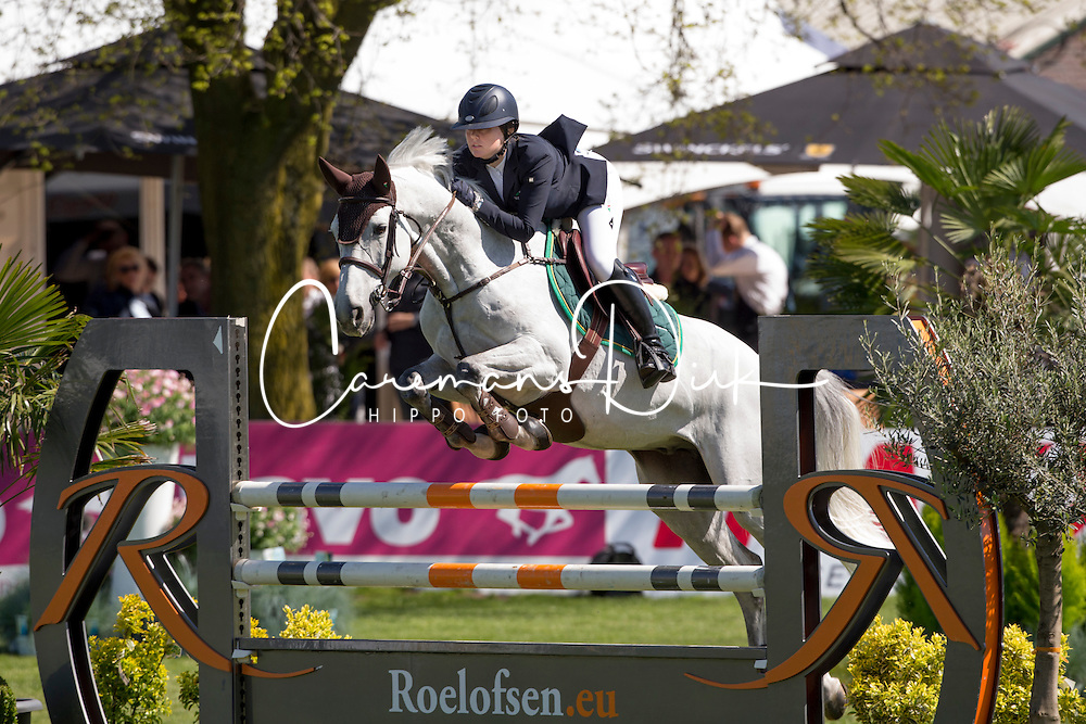 Van Grunsven Demi, (NED), Amaretto<br /> Nederlands kampioenschap springen - Mierlo 2016<br /> © Hippo Foto - Dirk Caremans<br /> 21/04/16
