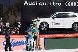 Slovenian jumpers during Ski Flying Hill Team Competition at Day 3 of FIS Ski Jumping World Cup Final 2018, on March 24, 2018 in Planica, Ratece, Slovenia. Photo by Urban Urbanc / Sportida