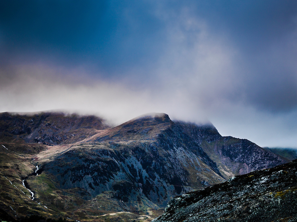 A mountain in Snowdonia, North Wales