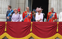 Royal Family Queen's Birthday Parade Trooping The Colour, London, UK, 12 June 2010. For piQtured Sales contact: Ian@piqtured.com Tel: +44(0)791 626 2580 (Picture by Richard Goldschmidt/Piqtured)