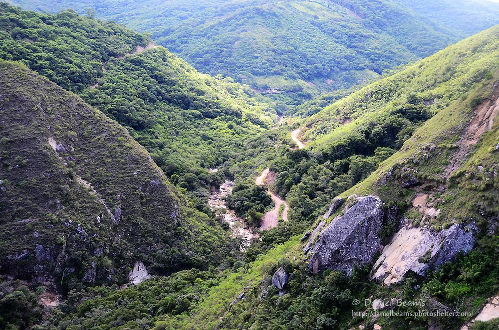 Mountain landscape near La Pajcha, Samaipata, Santa Cruz, Bolivia