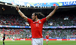 Gareth Bale of Wales celebrates the goal  - Mandatory by-line: Joe Meredith/JMP - 25/06/2016 - FOOTBALL - Parc des Princes - Paris, France - Wales v Northern Ireland - UEFA European Championship Round of 16