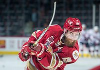 REGINA, SK - MAY 20:  Adam Holwell #13 of Acadie-Bathurst Titan warms up against the Regina Pats at the Brandt Centre on May 20, 2018 in Regina, Canada. (Photo by Marissa Baecker/CHL Images)