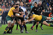 All Blacks' Malakai Fekitoa in action during the All Blacks v Wallabies. The Rugby Championship &amp; Bledisloe Cup at Westpac Stadium, Wellington, New Zealand on Saturday 27 August 2016.<br /> Photo by Masanori Udagawa. <br /> www.photowellington.photoshelter.com.