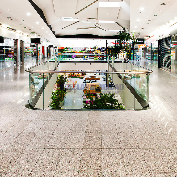 G603 Granite Padang Crystal commercial shopping centre flooring flagstone tiles interior project realization