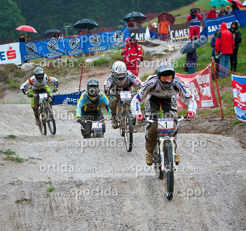 12.06.2011, Bikepark, Leogang, AUT, UCI MOUNTAINBIKE WORLDCUP, LEOGANG, im Bild Jared GRAVES, Sieger // during the UCI MOUNTAINBIKE WORLDCUP, LEOGANG, AUSTRIA, 2011-06-12, EXPA Pictures © 2011, PhotoCredit: EXPA/ J. Feichter , on June 11, 2011.