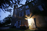 meal at Chateau Chadrac in Auvergne.. - Photograph by Owen Franken