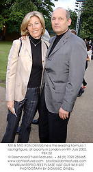 MR & MRS RON DENNIS he is the leading Formula 1 racing figure, at a party in London on 9th July 2002.	PBX 52