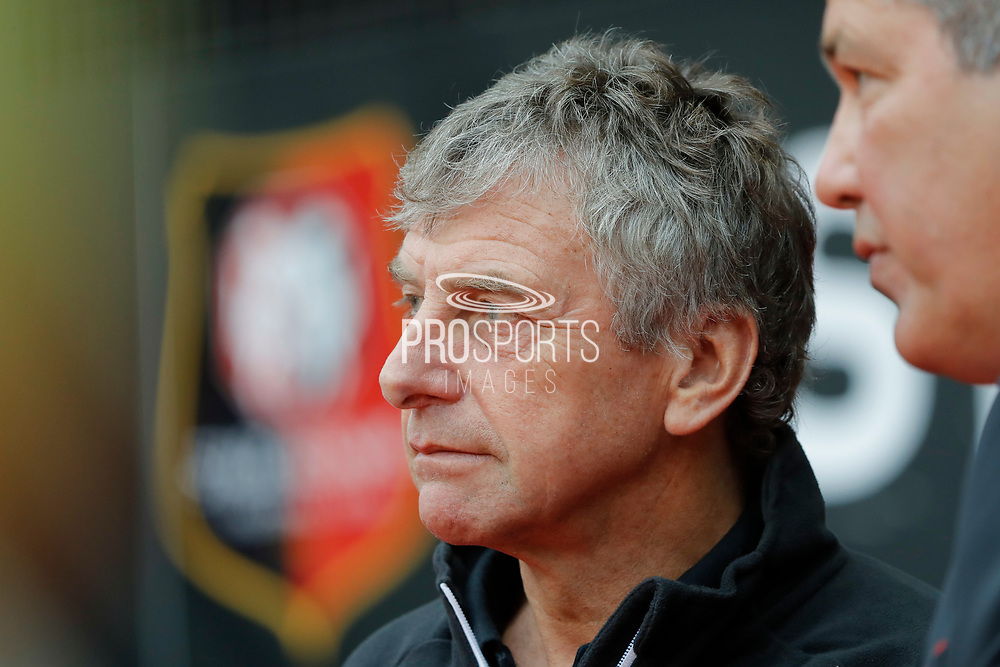 Christian GOURCUFF (STADE RENNAIS FOOTBALL CLUB) during the French championship L1 football match between Rennes v Lyon, on August 11, 2017 at Roazhon Park stadium in Rennes, France - Photo Stephane Allaman / ProSportsImages / DPPI