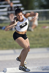 12 July 2007 (Windsor--Canada) -- The 2007 Canadian National Track and Field Championships... Véronique Fortin competing in the heptathlon shot put.