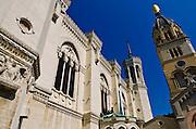 The Fourvière Basilica in old town Vieux Lyon, France (UNESCO World Heritage Site)