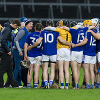Kilmaley's Manager Conor Clancy motivates the team during the extra time half time