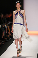 Katlin Aas walks the runway wearing BCBG Max Azria Spring 2012 Collection during Mercedes-Benz Fashion Week in New York on September 8, 2011
