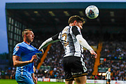 Notts County defender Matt Tootle (2) clears the header during the EFL Sky Bet League 2 match between Notts County and Coventry City at Meadow Lane, Nottingham, England on 18 May 2018. Picture by Simon Davies.