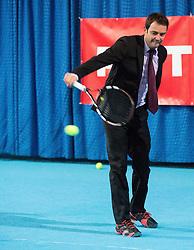 Denis Topcic of Zavarovalnica Tilia  during media day of Slovenian tennis player Blaz Kavcic after 10 years of his professional career, on November 25, 2014 in TC Breskvar, Ljubljana, Slovenia. Photo by Vid Ponikvar / Sportida