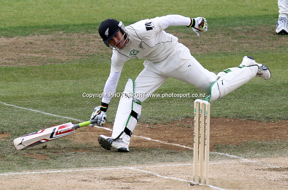 New Zealand batsman Brendon McCullum takes a quick single.<br />