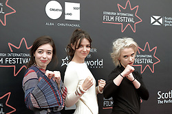 Edinburgh Film Festival, Friday 29th June 2018<br /> <br /> ANNA AND THE APOCALYPSE (UK PREMIERE)<br /> <br /> Pictured: Marli Sui, Ella Hunt and Sarah Swire<br /> <br /> Alex Todd | Edinburgh Elite media