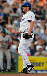 May 24, 2007; Trenton, NJ, USA;  Roger Clemens (22) disagrees with a pitch call during his start for the Trenton Thunder (New York Yankees Double-A affiliate) during their Eastern League game against the Portland Sea Dogs at Waterfront Park in Trenton, NJ.