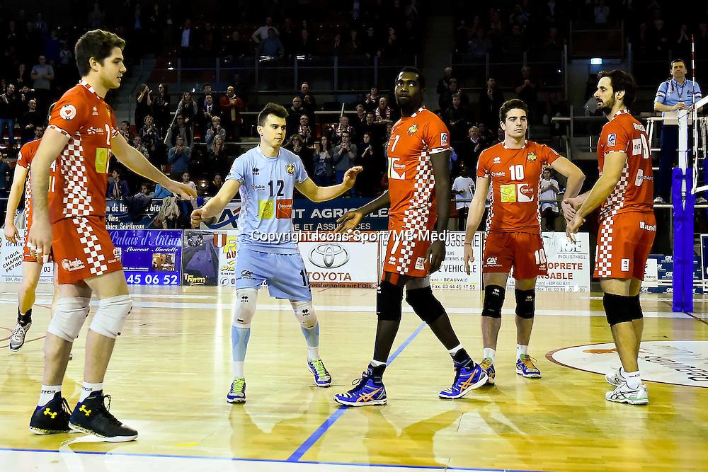 Paul COOPER / Steve PEIROET / Gary GENDREY / Paul VILLARD / Ondrej HUDECEK  - 19.12.2014 - Beauvais / Saint Nazaire - 12e journee de Ligue A<br />Photo : Fred Porcu / Icon Sport