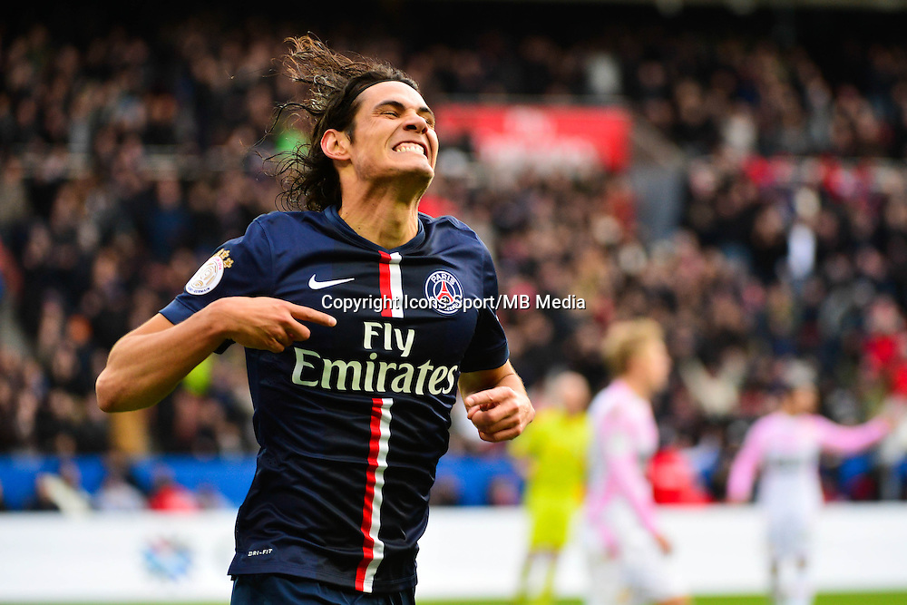 Joie PSG - Edinson CAVANI - 18.01.2015 - Paris Saint Germain / Evian Thonon - 21eme journee de Ligue 1<br />