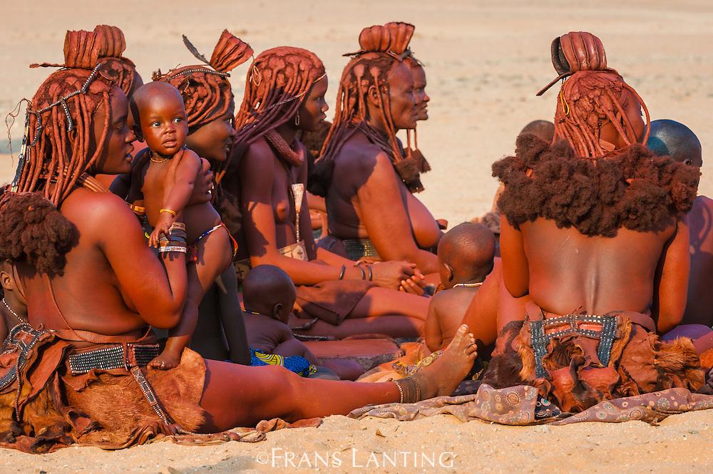 Himba women and children, Kaokoland, Namibia