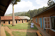 Inside a court yard at Kisiizi Hospital, Uganda.