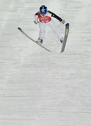 06-02-2014 SCHANSSPRINGEN: OLYMPIC GAMES: SOTSJI<br /> Training Schansspringen op het Russki Gorki Jumping Center / Peter Prevc SLO<br /> ©2014-FotoHoogendoorn.nl<br />  / Sportida