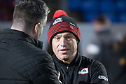 Edinburgh coach Richard Cockerill being interviewed ahead of the Guinness Pro 14 2017_18 match between Edinburgh Rugby and Zebre at Myreside Stadium, Edinburgh, Scotland on 6 October 2017. Photo by Kevin Murray.