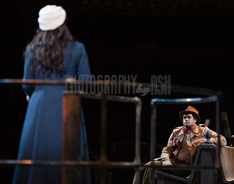 Jessica Rose Cambio as Mimi & Sean Pannikar as Rodolfo perform in Puccini's tragic opera La Boheme at The Royal Albert Hall, London on February 26, 2014.  Photo: Arnaud Stephenson