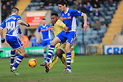Peter Vincenti, Marlon Romeo during the Sky Bet League 1 match between Rochdale and Millwall at Spotland, Rochdale, England on 13 February 2016. Photo by Daniel Youngs.