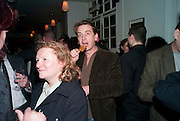 RACHEL WHITEREAD; SCOTT DOUGLAS, Counter Editions 10th anniversary party. Rivington Grill. Shoreditch. London. 5 May 2010 *** Local Caption *** -DO NOT ARCHIVE-© Copyright Photograph by Dafydd Jones. 248 Clapham Rd. London SW9 0PZ. Tel 0207 820 0771. www.dafjones.com.<br /> RACHEL WHITEREAD; SCOTT DOUGLAS, Counter Editions 10th anniversary party. Rivington Grill. Shoreditch. London. 5 May 2010