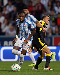 Huddersfield Town's Kasey Palmer on the ball during the Carabao Cup, Second Round match at the John Smith's Stadium, Huddersfield.
