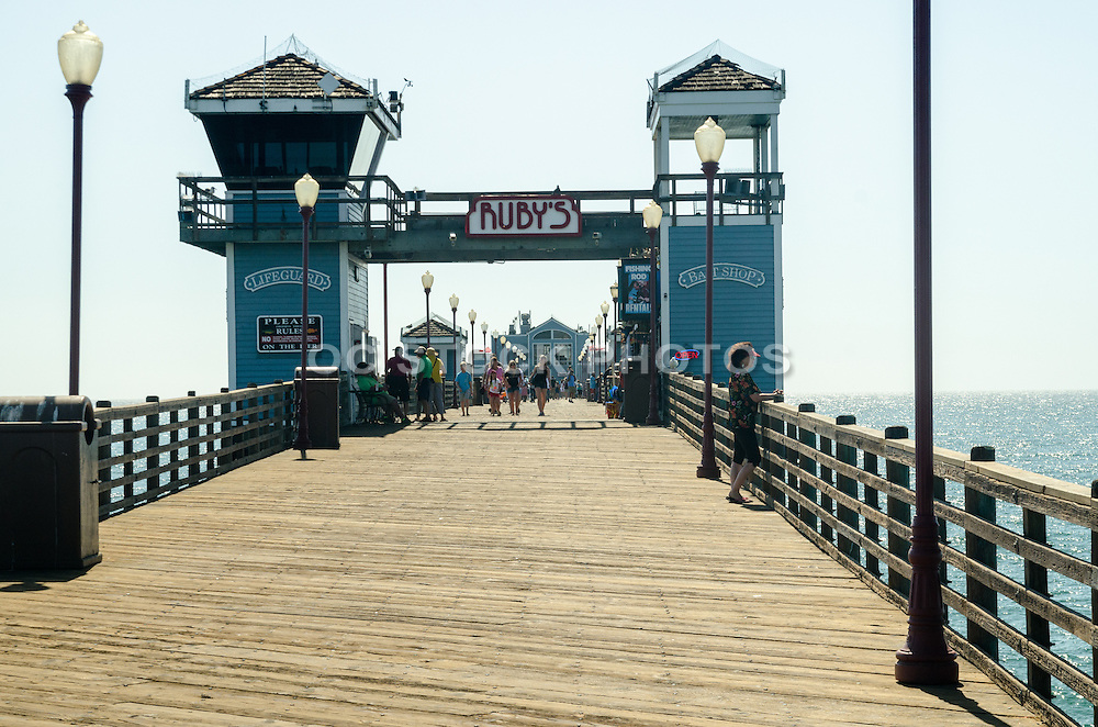 Tourists on the Oceanside Pier