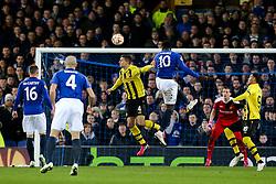 Everton's Romelu Lukaku goes close with a header - Photo mandatory by-line: Matt McNulty/JMP - Mobile: 07966 386802 - 26/02/2015 - SPORT - Football - Liverpool - Goodison Park - Everton v Young Boys - UEFA EUROPA LEAGUE ROUND OF 32 SECOND LEG