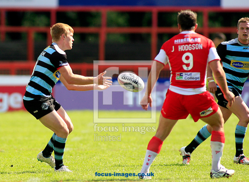 James Cunningham (left) of London Broncos in action  during the First Utility Super League match at the KC Lightstream Stadium, Kingston upon Hull<br /> Picture by Richard Gould/Focus Images Ltd +44 7855 403186<br /> 25/05/2014