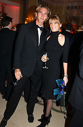 LADY EMILY COMPTON and MR JAMES COOK at 'A Rout' an evening of late evening party, essentially of revellers in aid of the Great Ormond Street Hospital Children's Charity and held at Claridge's, Brook Street, London W1 on 25th January 2005.<br />