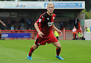 Man of the man Christian Scales in action during the Sky Bet League 2 match between Crawley Town and Wycombe Wanderers at the Checkatrade.com Stadium, Crawley, England on 29 August 2015. Photo by Michael Hulf.