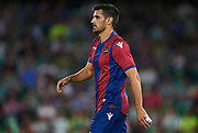 """SEVILLE, SPAIN - SEPTEMBER 25:  Jose Manuel Rodriguez """"Chema"""" of Levante UD looks on during the La Liga match between Real Betis and Levante at Estadio Benito Villamarin on September 25, 2017 in Seville, .  (Photo by Aitor Alcalde Colomer/Getty Images)"""