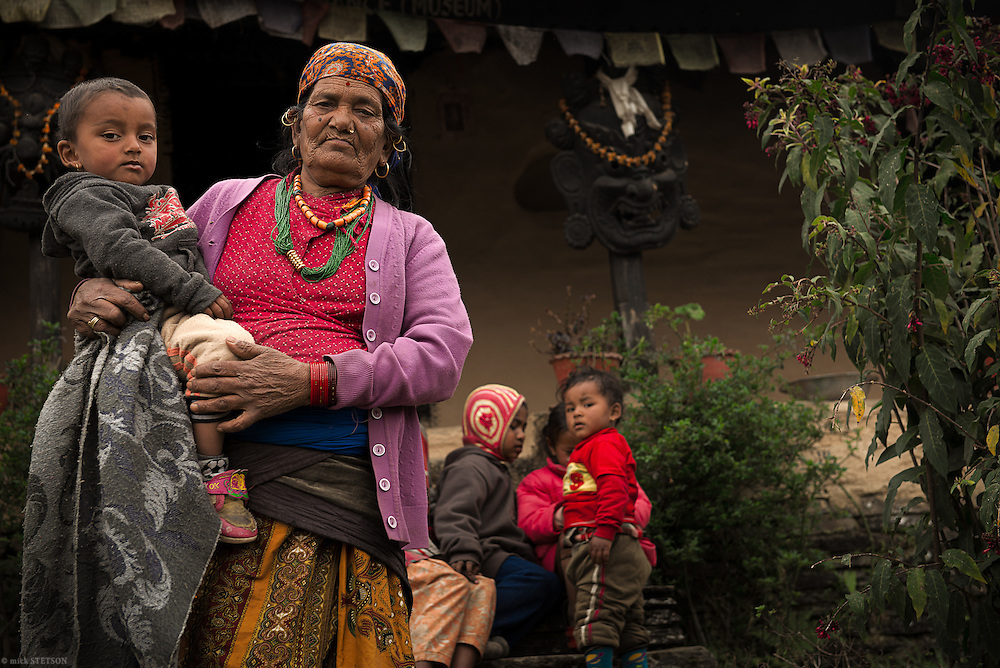 — Priya's grandmother looks after several children whose single parents are working in the fields or forests. Almost every home in the village has a son or daughter working overseas. If they are married, then their spouse remains in the village, taking care of the children and maintaining their farm.