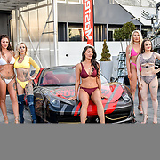 The Cannon Run bikini girls at the Driving holiday experience hosts yacht party at The Sunborn Yacht, Royal Victoria Dock on 31 May 2019, London, UK.