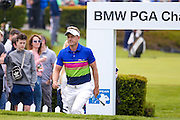 English golf professional Luke Donald  walks onto the 1st tee during the BMW PGA Championship at the Wentworth Club, Virginia Water, United Kingdom on 28 May 2016. Photo by Simon Davies.
