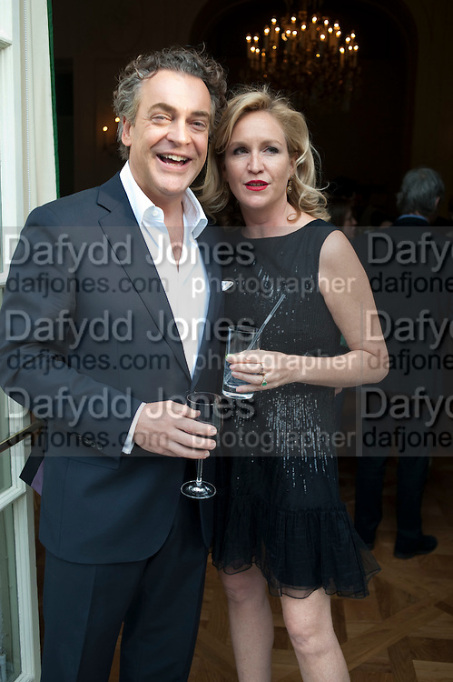 KENTON ALLAN; IMOGEN EDWARDS-JONES, Imogen Edwards-Jones - book launch party for ' Hospital Confidential' Mandarin Oriental Hyde Park, 66 Knightsbridge, London, 11 May 2011. <br />  <br /> -DO NOT ARCHIVE-&copy; Copyright Photograph by Dafydd Jones. 248 Clapham Rd. London SW9 0PZ. Tel 0207 820 0771. www.dafjones.com.