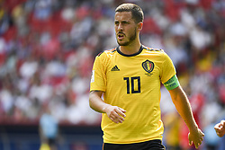 June 23, 2018 - Moscow, Russia - Eden Hazard of Belgium during the 2018 FIFA World Cup Group G match between Belgium and Tunisia at Spartak Stadium in Moscow, Russia on June 23, 2018  (Credit Image: © Andrew Surma/NurPhoto via ZUMA Press)