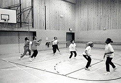 Basketball at John Carroll leisure centre, Nottingham, UK 1989