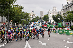 Laps countdown at La Madrid Challenge by La Vuelta 2019 - Stage 2, a 98.6 km road race in Madrid, Spain on September 15, 2019. Photo by Sean Robinson/velofocus.com